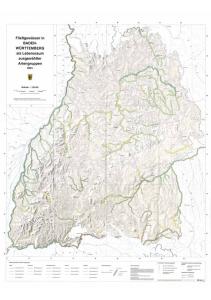 Bild der Titelseite der Publikation: Fließgewässer in Baden-Württemberg als Lebensraum ausgewählter Artengruppen - Übersichtskarte
