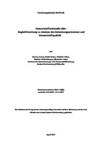 Bild der Titelseite der Publikation: Wasserstofftankstelle Ulm - Begleitforschung zu Analyse des Betankungsprozesses und Wasserstoffqualität