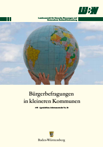 Bild der Titelseite der Publikation: Arbeitsmaterialie 050: Bürgerbefragungen in kleineren Kommunen