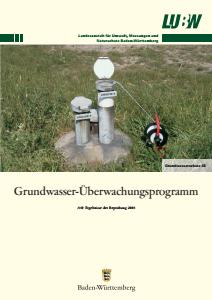 Bild der Titelseite der Publikation: Grundwasserüberwachungsprogramm. Ergebnisse der Beprobung 2008