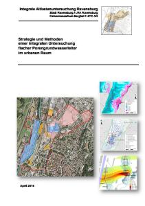 Bild der Titelseite der Publikation: Integrale Altlastenuntersuchung Ravensburg