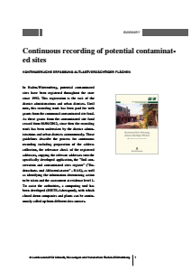 Bild der Titelseite der Publikation: Continuous recording of potential contaminated sites