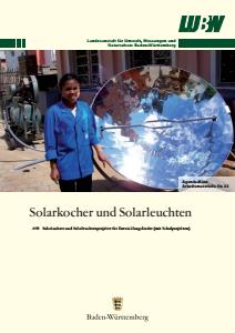Bild der Titelseite der Publikation: Arbeitsmaterialie 033: Solarkocher- und Solarleuchtenprojekte für Entwicklungsländer
