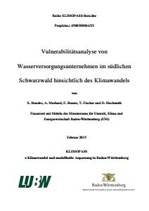 Bild der Titelseite der Publikation: Vulnerabilitätsanalyse von Wasserversorgungsunternehmen im südlichen Schwarzwald hinsichtlich des Klimawandels