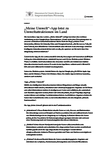 Bild der Titelseite der Publikation: Meine Umwelt-App lotst zu Umweltattraktionen im Land