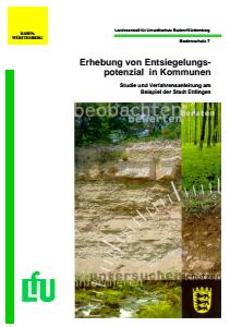 Bild der Titelseite der Publikation: Erhebung von Entsiegelungspotenzial in Kommunen