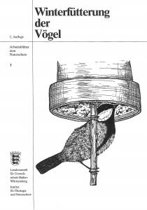 Bild der Titelseite der Publikation: Winterfütterung der Vögel