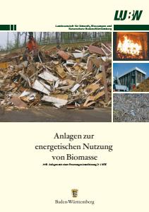 Bild der Titelseite der Publikation: Anlagen zur energetischen Nutzung von Biomasse