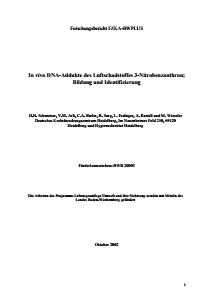 Bild der Titelseite der Publikation: In vivo DNA-Addukte des Luftschadstoffes 3-Nitrobenzanthron; Bildung und Identifizierung