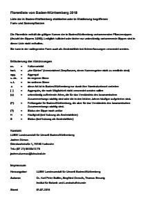 Bild der Titelseite der Publikation: Florenliste von Baden-Württemberg 2018