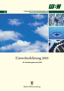 Bild der Titelseite der Publikation: Umwelterklärung 2010