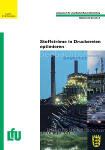 Bild der Titelseite der Publikation: Stoffströme in Druckereien optimieren