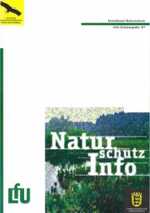 Bild der Titelseite der Publikation: Naturschutz-Info 1997 Erstausgabe