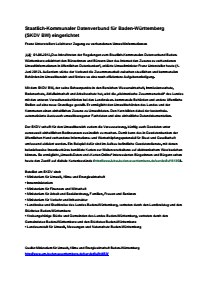 Bild der Titelseite der Publikation: Staatlich-Kommunaler Datenverbund für Baden-Württemberg (SKDV BW) eingerichtet