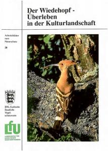 Bild der Titelseite der Publikation: Der Wiedehopf - Überleben in der Kulturlandschaft