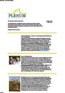 Bild der Titelseite der Publikation: Newsletter 2012