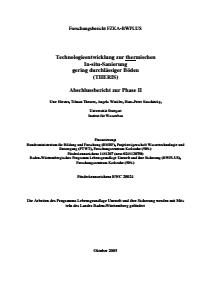 Bild der Titelseite der Publikation: Technologieentwicklung zur thermischen In-situ-Sanierung gering durchlässiger Böden (THERIS)