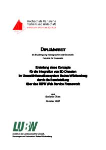 Bild der Titelseite der Publikation: Erstellung eines Konzepts für die Integration von 3D-Diensten im Umweltinformationssystem Baden-Württemberg