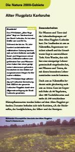 Bild der Titelseite der Publikation: Natura 2000 gemeinsam umsetzen - Alter Flugplatz Karlsruhe