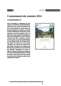Bild der Titelseite der Publikation: Contaminated site statistics 2014