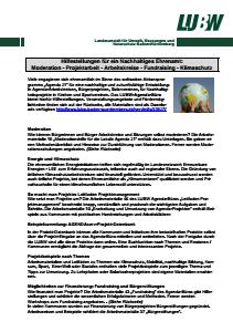 Bild der Titelseite der Publikation: Informationsblatt 013 Moderation