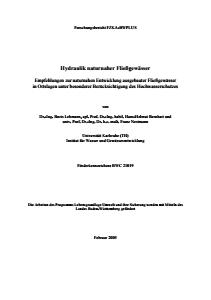 Bild der Titelseite der Publikation: Hydraulik naturnaher Fließgewässer