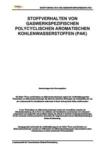 Bild der Titelseite der Publikation: Stoffverhalten von gaswerkspezifischen Polycyclischen Aromatischen Kohlenwasserstoffen