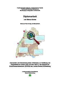 Bild der Titelseite der Publikation: Konzeption und Entwicklung eines Verfahrens zur Abbildung von Diagrammen in Karten unter ArcView 3.2 am Beispiel der Grundwasserdatenbank (GWDB)