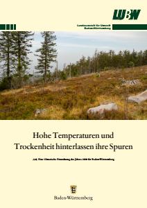 Bild der Titelseite der Publikation: Hohe Temperaturen und Trockenheit hinterlassen ihre Spuren