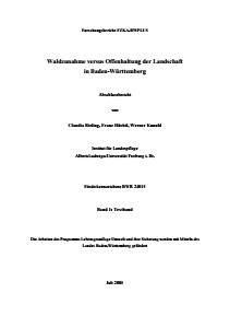Bild der Titelseite der Publikation: Waldzunahme versus Offenhaltung der Landschaft in Baden-Württemberg