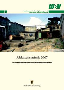 Bild der Titelseite der Publikation: Altlastenstatistik 2007