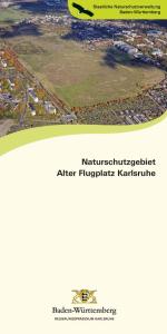 Bild der Titelseite der Publikation: Naturschutzgebiet Alter Flugplatz Karlsruhe
