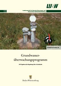 Bild der Titelseite der Publikation: Grundwasserüberwachungsprogramm. Ergebnisse der Beprobung 2011 - Kurzbericht