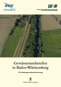 Bild der Titelseite der Publikation: Gewässerrandstreifen in Baden-Württemberg
