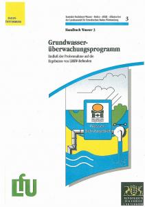 Bild der Titelseite der Publikation: Grundwasserüberwachungsprogramm. Einfluß der Probennahme auf die Ergebnisse von LHKW-Befunden