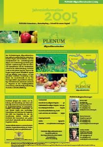 Bild der Titelseite der Publikation: Jahresinformation PLENUM Allgäu-Oberschwaben 2005