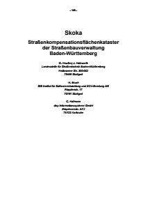 Bild der Titelseite der Publikation: Skoka - Straßenkompensationsflächenkataster der Straßenbauverwaltung Baden-Württemberg