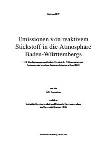 Bild der Titelseite der Publikation: Emissionen von reaktivem Stickstoff in die Atmosphäre Baden-Württembergs
