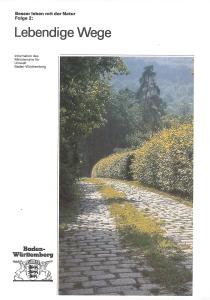 Bild der Titelseite der Publikation: Lebendige Wege