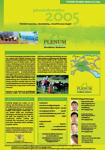 Bild der Titelseite der Publikation: Jahresinformation PLENUM Westlicher Bodensee 2005
