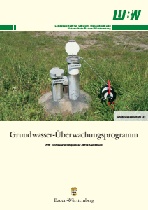 Bild der Titelseite der Publikation: Grundwasserüberwachungsprogramm. Ergebnisse der Beprobung 2005 - Kurzbericht