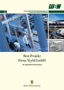 Bild der Titelseite der Publikation: BEST-Projekt Veyhl GmbH