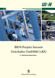 Bild der Titelseite der Publikation: BEST-Projekt intensiv Grieshaber GmbH & Co.KG