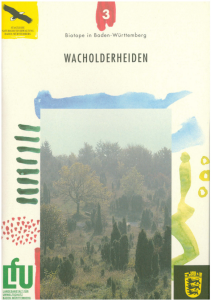 Bild der Titelseite der Publikation: Wacholderheiden