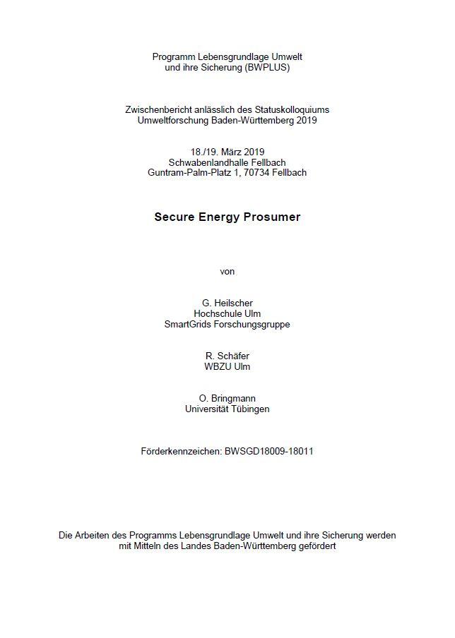 Bild der Titelseite der Publikation: Secure Energy Prosumer