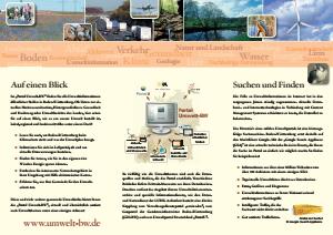 Bild der Titelseite der Publikation: Flyer Umwelt-BW