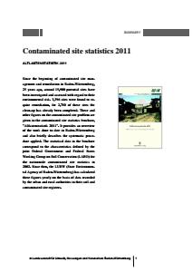 Bild der Titelseite der Publikation: Contaminated site statistics 2011