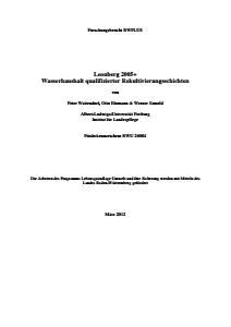 Bild der Titelseite der Publikation: Leonberg 2005+ Wasserhaushalt qualifizierter Rekultivierungsschichten