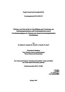 Bild der Titelseite der Publikation: Wirkung von Ozon auf die in-vitro Bildung und Freisetzung von Entzündungsmediatoren und Wachstumsfaktoren durch Alveolarmakrophagen bei Patienten mit chronisch bronchopulmonalen Entzündungen