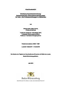 Bild der Titelseite der Publikation: Stratisorp-Systementwicklung: Schichtspeicher-Adsorptionswärme für Heiz- und Kühlanwendungen in Gebäuden